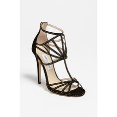 Jimmy Choo 'Crystal' Sandal ($1,450) found on Polyvore