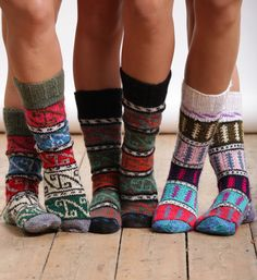 Turkish Coloful #Socks to wear with chunky boots on the weekend. Perfect for snowsports, too!