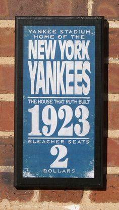 New York Yankees Vintage Style Wall Plaque by CrestField on Etsy, $28.00