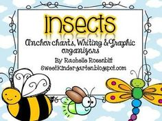 "This pack contains anchor charts and graphic organizers I created to go with my Science Unit on Insects. There is a bubble map, tree chart, writing page, and accompanying anchor chart pictures for each of the following Insects. Bee, Ant, Firefly, Dragonfly, Ladybug, Beetle, Butterfly, Grasshopper, Fly, Mosquito.Ive also included a coloring page of all the insects, a Butterfly life cycle page, and an ""insects have..."" page."