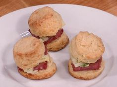 Irish Cheddar Scones with Corned Beef and Apple Slaw Recipe