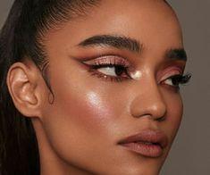 Beautiful eyes makeup discovered by Jacqueline Bold Makeup Looks, Glam Makeup Look, Beautiful Eye Makeup, Creative Makeup Looks, Cute Makeup, Burgundy Makeup Look, Beautiful Eyes, Foto Face, High Fashion Makeup