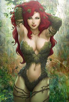 Poison Ivy Sideshow Art by Artgerm.deviantart.com on @DeviantArt