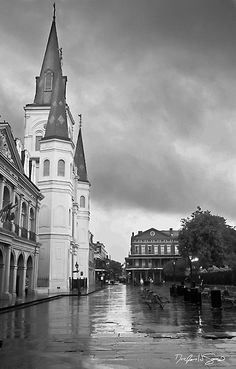 Saint Louis Cathedral in Jackson Square in New Orleans.