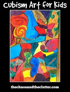 Cubism Art for Kids - it can be a project the whole family can create together