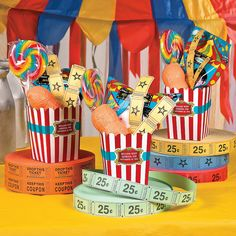 Looking for carnival ideas? This favor box idea is perfect for your Carnival theme event! Carnival Party Centerpieces, Circus Party Decorations, Circus Carnival Party, Circus Theme Party, Carnival Birthday Parties, Carnival Themes, Circus Birthday, Birthday Party Games, Party Themes