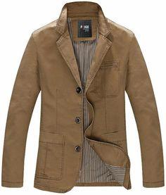2017 Autumn Men casual blazers cotton denim jacket coat Men's slim fit army green khaki suit jackets parka,Big Size M -XXXXL