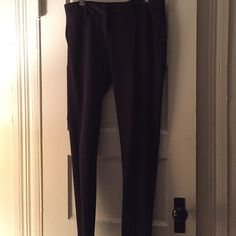 Black dress pants Worn once for an interview -new no tags Pants Ankle & Cropped