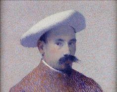 Autorretrato com boina branca, 1896 Achille Laugé (França, 1861-1944) óleo sobre tela Coleção Robert Bachmann, Lisboa