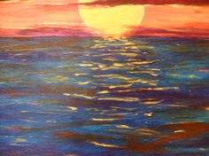 Abstract Sunset acrylic painting by TheArtinBusiness on Etsy, $850.00
