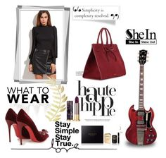 """""""SHEIN CONTEST"""" by dianna-herz ❤ liked on Polyvore featuring Haute Hippie, Mansur Gavriel, Christian Louboutin, Gucci, Urban Decay and shein"""