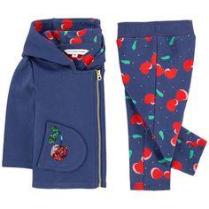 Little Marc Jacobs - Cardigan à capuche et pantalon imprimé - 183650