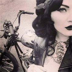 Rockabilly bike | via Tumblr