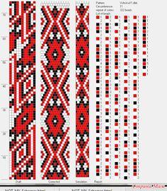 Браслет из бисера в украинском стиле