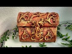 DIY CAJA REPUJADA CON OBLEAS - BOX EMBOSSED WITH WAFERS - YouTube