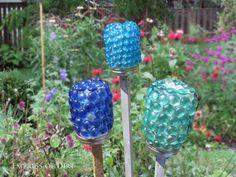 Make garden treasure jars and more frugal, easy garden art projects  #gardening #spon #diyprojects #repurposed #gardenart