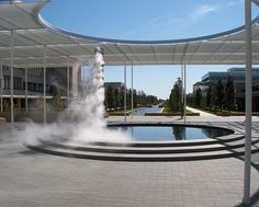 UTD campus mall. Granite fountain with mist column. http://www.payscale.com/research/US/School=University_of_Texas_at_Dallas/Salary