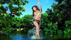 Girl Nature Water 1366x768 Wallpaper : Free Download  Streaming