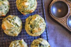 Spinach is high in iron and contains many vitamins and minerals that are essential for a healthy body. The feta is salty and crumbly and having chunks dispersed throughout the muffin is just pure taste-bud heaven.