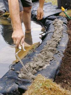 Installing Pond Liner #watergardens