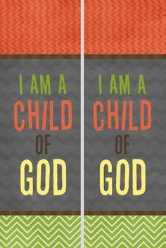 """A Pocket full of LDS prints: The 2018 Primary theme """"I am a Child of God."""""""