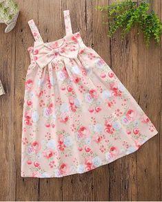 Simple Dress For Girl, Little Girl Summer Dresses, Dress For Girl Child, Wedding Dresses For Kids, Cute Flower Girl Dresses, Dress With Bow, Simple Dresses, Cute Dresses, Girls Dresses