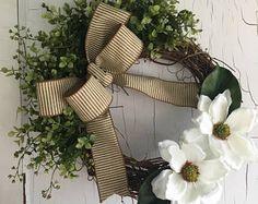Boxwood Wreath  Eucalyptus Wreath  Farmhouse Decor