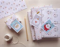 Pour vous aider dans cette lourde tache qu'est l'étape  del'emballagedescadeaux de Noël, je vous aipréparé ce kit d'étiquettes  et de papiers cadeaux à imprimer.Oiseau, ours, chat et même Yéti sont les  grandes vedettes de ceDIY et égayeront, je l'espère, vos cadeaux sous le  sapin de Noël.  Pour préparer votre kit, rien de plus simple,il vous suffit d'imprimerles  5 fichiers suivants:  >> étiquettes /papier cadeau bird /papier cadeau chat /papier cadeau yéti  /papier cadeau ...