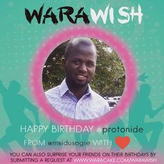 Yay!!! Today is for Amu Omo !! Happy Birthday @Protonide !! Shoutout courtesy of @msidusogie !! Surprise your loved ones too by submitting a request at http://ift.tt/1WmLgcp