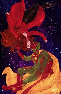 MCU - Vision x Wanda Maximoff - ScarletVision