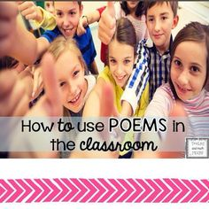 I blogged on over at @primarychalkboard - swing by and read about how I incorporate poems into my classroom.  I try to use them all across the curriculum. https://www.teacherspayteachers.com/Product/Poems-for-a-year-BUNDLED--1925098