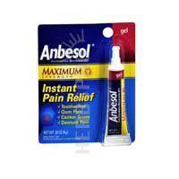 Anbesol Oral Anesthetic Gel Maximum Strength 0.33 oz