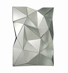Aqua Faceted Wall Mirror