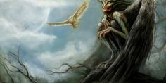 In Slavic Mythology, the 'Strzyga' is an owl-like demon which feeds on human blood at night. They will also eat your entrails Mythological Creatures, Fantasy Creatures, Mythical Creatures, Eslava, Modern Vampires, Female Demons, Myths & Monsters, Kobold, Legends And Myths