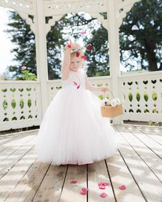 Reporting for petal duty! 🌸💕✨ @lipglossandcrayons' daughter Lydia had the ultimate dress up day in our latest #flowergirl styles! Head to our blog for the darling looks! (link in profile!) #DavidsBridal Photo by @cindygreenlovephoto . . Style RK1368 | Under $150 #weddingdress