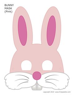 Today we share inexpensive, fun and easy Easter craft ideas for kids! Lots of Easter egg crafts as well as free bunny mask printables that your kids can color! Printable Halloween Masks, Printable Animal Masks, Easter Bunny Template, Bunny Templates, Animal Masks For Kids, Mask For Kids, Mascaras Halloween, Bunny Mask, Diy Ostern