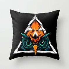 I Don't Give A Hoot Throw Pillow by dominantdinosaur - $20.00
