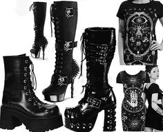 Cool womens' Jawbreaker occult inspired dresses and some fierce Demonia boots just arrived at Ipso Facto! Shop in our Fullerton, CA store or online: http://www.ipso-facto.com/dressesstretchshort.htm http://www.ipso-facto.com/womensboots.htm