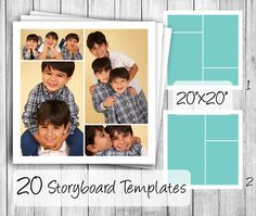 Storyboard Templates set of 20  20x20 square by PixelsandPine