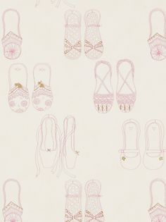 Buy Harlequin Wallpaper, Twinkle Toes 70810, Pink / Cream / Gold online at JohnLewis.com - John Lewis