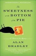 The sweetness at the bottom of the pie by Alan C. Bradley. It is the summer of 1950 - For Flavia life begins in earnest when murder comes to Buckshaw. Soon her father, a man raising his three daughters alone, is seized, accused of murder. And in a police cell, during a violent thunderstorm, Colonel de Luce tells his daughter an astounding story.Of this much the girl is sure: her father is innocent of murder - but protecting her and her sisters from something even worse.