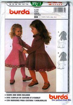 Burda Toddler Dress 9971 Uncut Bias trim by MagicBabyDesigns