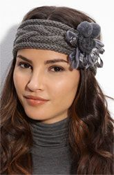 Flower Cable Knit Headwrap