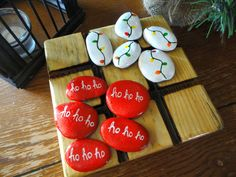 Image result for christmas painted rocks