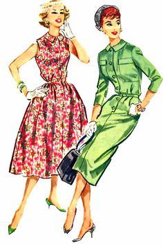 McCalls 4411 1950s Shirtwaist dress