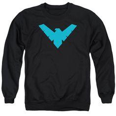Nightwing Classic Logo Mens Crewneck Sweatshirt - Visit to grab an amazing super hero shirt now on sale!
