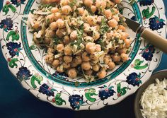 Chickpea Salad with Lemon, Parmesan, and Fresh Herbs--a great chickpea side dish, we will have it with brats.