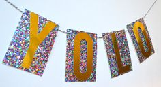 YOLO BANNER New Years Eve Banner New Years Party by PopFizzHooray
