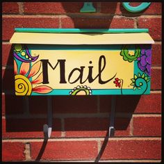 painted mailbox I painted for my mom 💜