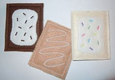 Felt Play Food Pop Tarts and Toaster Strudel Machine Embroidery Designs. $10.00, via Etsy.